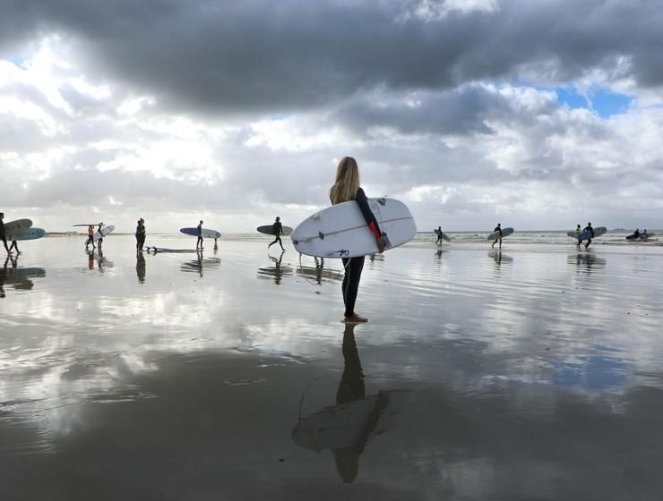 Surfen op speciale plekken